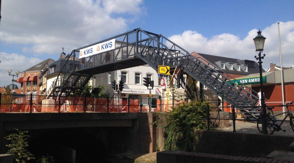 Voetgangersbrug EventBridge tijdens infra werkzaamheden KWS